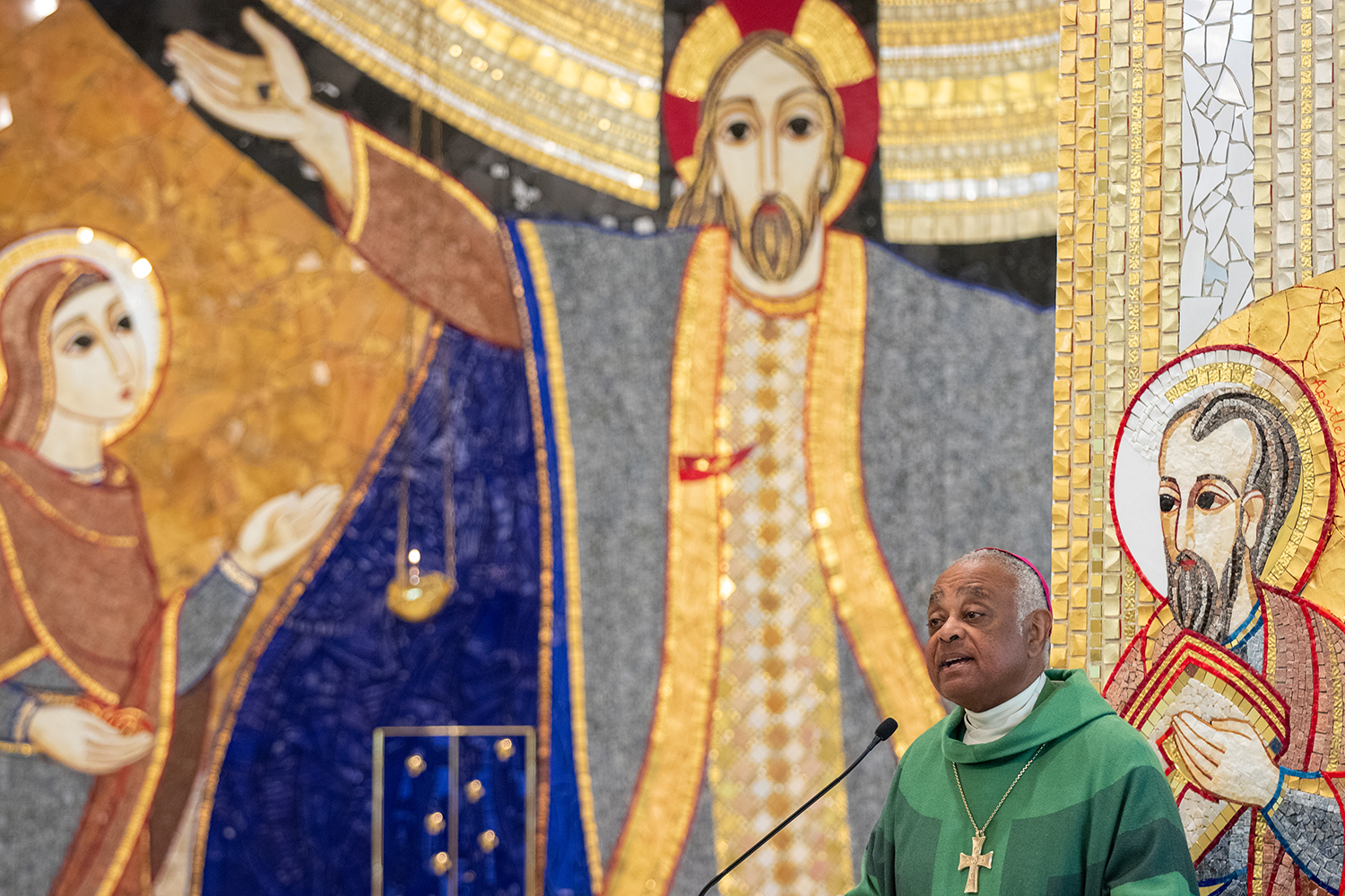 Archbishop Wilton Gregory of Washington preaching at the liturgy celebrating the Installation of Officers of the DC State Council of the Knights of Columbus.